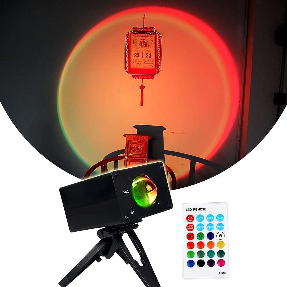 Regenbogen-Sonnenuntergangslicht Projektions-Stehlampe LED-Regenbogen-Sonnenuntergangslicht Sunset Regenbogen ProjektionslampeSonnenuntergangsprojektion