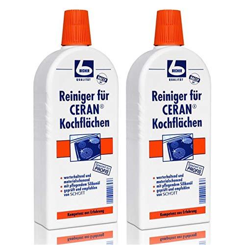 Dr. Becher Reiniger für CERAN Kochflächen, 2er Set (2 x 500ml Flasche)