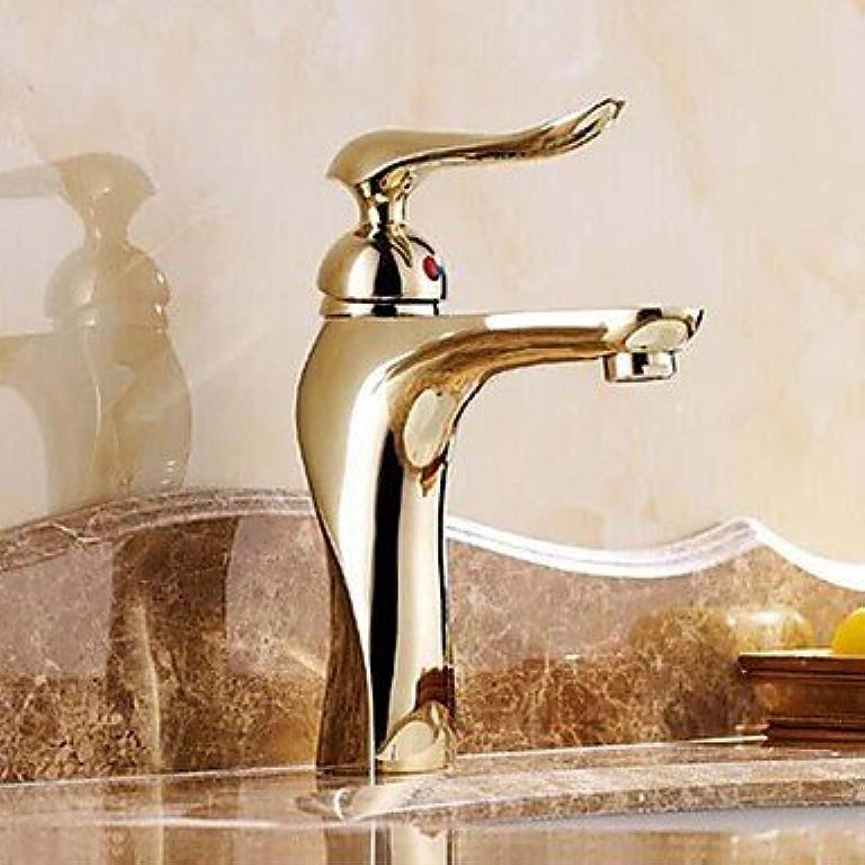 SEBAS Home Waschtischarmatur Ti-PVD Finish Massivem Messing Einhand-Centerset Waschbecken Wasserhahn
