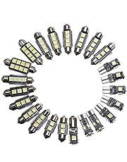 Riloer 23 Stks Auto Interieur LED Leeslamp Dome Kofferbak Deur Vervanging Lamp Kits