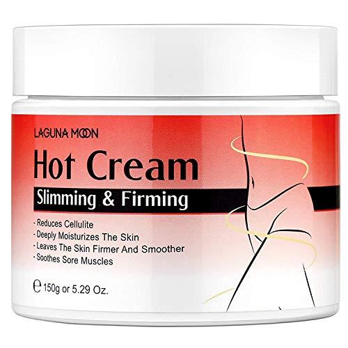 Hot Cream Cellulite, Lagunamoon Anti-Cellulite-Creme mit Chili-Pfeffer- und Wassermelonenextrakt für Bauch Arm Oberschenkelabnehmen und Straffung Muskelentspannung Körperfettverbrennendes Massage-Gel