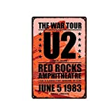 GGRFFY Retro Metall Zinn Zeichen U2 Band Wand Poster Bar