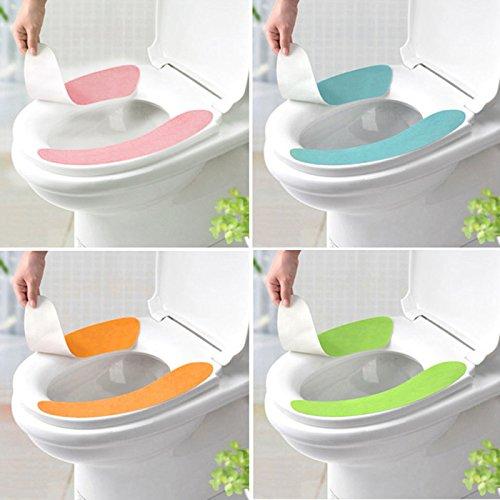 HuntGold 1 Paar weiche Bequeme Waschbar Badezimmer WC Sitz Cover Mat Deckel Closestuch (grün)