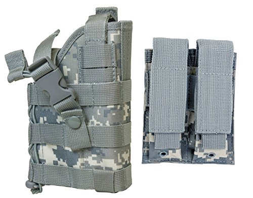 Amazing Deal M1SURPLUS ACU Digital Camo MOLLE Compatible Holster with Free MOLLE Compatible 2 Pocket...