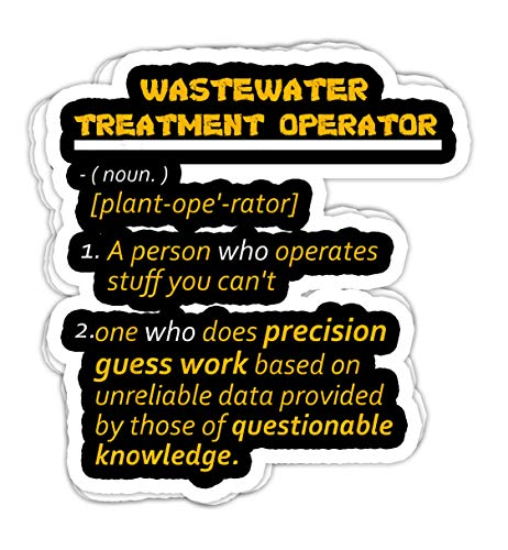 lkstore Wastewater Treatment Operators Gift- 4x3 Vinyl Stickers, Laptop Decal, Water Bottle Sticker (Set of 3)