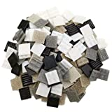 Armena Mosaikstein Mosaikfliesen Glas 2x2cm 500g Weiß-Grau-Schwarz