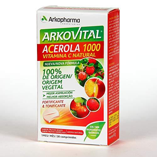 Arkopharma Arkovital Acerola 1000 Vitamina C Fortificante&Tonificante Comprimidos, 30Uds