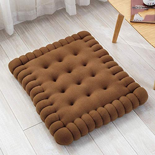 Chair Cushion Square Breathable Floor Pillow Seat Cushion Short Plush Seat Cushion Solid Color Quilted Chair Mat Yoga Balcony Booster Cushion Home Scapes ( Color : A , Size : 40x45cm(16x18in) )