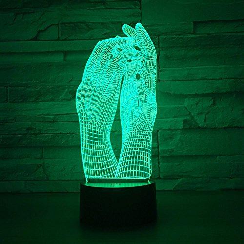 3D-nachtlampje voor kinderen Lamp Nachtlampje 16 Veranderende kleuren Stroom USB-contactschakelaar Decoratieve lamp Optische illusie LED-tafellamp Verjaardag Kerstcadeau Speelgoed