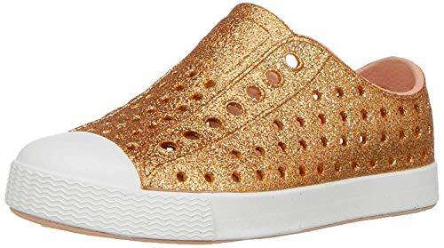 Native Kids Shoes Vegan Jefferson Bling Glitter Shoes for Girls (Toddler) Rose Gold Bling 4 Toddler M
