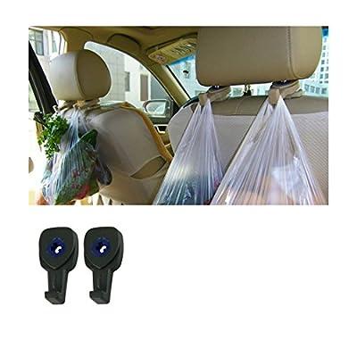 Iuhan® Fashion Portable Car Auto Seat Hanger Purse Bag Organizer Holder Hook Headrest 2Pcs