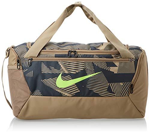 Nike Brasilia Duff - 9.0 AOP SP20 - Bolsa de Deporte Unisex, Color Caqui/Caqui/Verde Fantasma, Talla 1