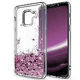 Mosoris Coque Samsung A8 2018 Glitter Liquide Cover Mode 3D TPU Etui A530 Etui Coque Transparent...