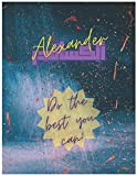 Alexander: Personalized Sketchbook for Men and Boys with Name Alexander in English and Arabic - 8.5x11 150 Pages. Doodle, Sketch, Note, Create! ... Sketchbooks with Names in English & Arabic)