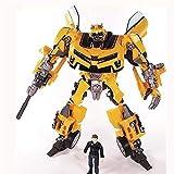 Mopoq Transformers Spielzeug, Transformation Roboter Human Alliance Hummeln und Sam Action-Figuren Spielzeug for Classic Toys Anime-Abbildung Cartoon-Jungen-Spielzeug