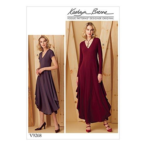 Vogue Mustern Vogue 9268OS, Schnittmuster Kleid, Größen xsm-xxl, mehrfarbig