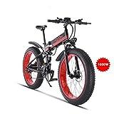GUNAI Bicicleta de Montaña Eléctrica 26 Pulgadas E-Bike Sistema de Transmisión de 21...