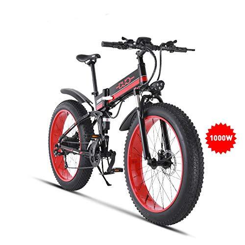 GUNAI Vélo Electrique 26' 4.0 Gros Pneu de Vélo 1000W Moteur Nouveau Tout-Puissant Puissant 48V10AH Ebike 21...