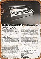 2個 8 x 12 CM メタル サイン - 1977 年 Sol-20 小型コンピュータ 1,000 ドル未満 メタルプレート レトロ アメリカン ブリキ 看板