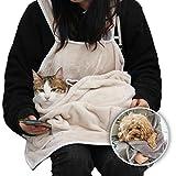 MOLLXZ 猫用エプロン 犬 キャリーバッグ 抱っこ紐 猫 ペット 抱っこ用エプロン 寝袋 カンガルー いつも一緒ポケット 飛び出し防止 ペットスリング ペット用品 (ピンク)