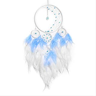 ZGPTX Dream Catcher Pendant Feather Wind Chimes Handmade Girl Heart House Home Decoration Gift for Girlfriend