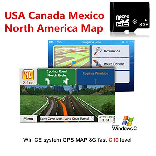 FidgetKute 8GB Micro Card Car GPS Navigation Software for Wince Lastest North America Map