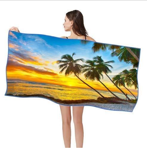 ZFFSC Sneldrogend Strandhanddoek 80x160cm Licht Gewicht Microvezel Badhanddoek Gym Reizen Sauna Yoga Mat Outdoor Deken Handdoek Anti Zand