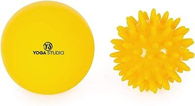 Yoga Studio - Juego de pelota de masaje y bola de pinchos: Amazon ...