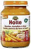 Holle Bio Karotten, Kartoffeln & Rind (6 x 190 gr)