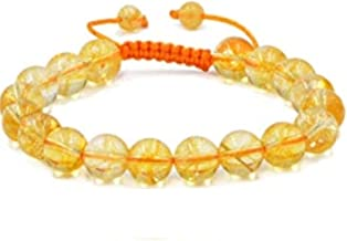 DHYANARSH 100% Original and Laboratory Certified Citrine Stone Bracelet with Size Adjustable Thread for Men and Women Unisex