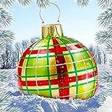 Bola decorada inflable de Navidad al aire libre,Bola decorada inflable de pvc de Navidad al aire libre,Bola inflable de Navidad gigante Decoraciones para árboles de Navidad con bomba ( Color : 004 )