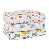 baby wish Muslin Swaddle Blankets 100% Natural Cotton Swaddling for Newborn Receiving Blankets