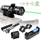 Shockproof 532nm Tactical Green Dot Laser Sight Rifle Scope with Rail and Barrel