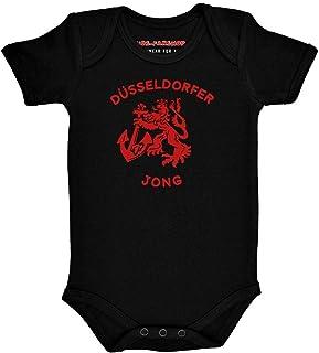 Metal Kids Düsseldorfer Jong - Baby Body, Schwarz & Weiß, Größen von 56 bis 86 0 bis 24 Monate, 100% Heimat von Kids-Fanshop