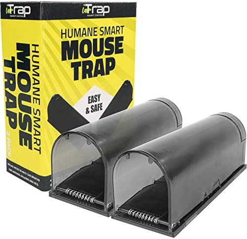 iTrap Humane Live Catch Release Smart Mouse Trap Safe Around Pets Children Set of 2 product image