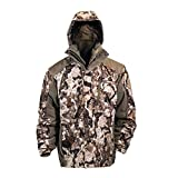 HOT SHOT Men's 3-in-1 Insulated Veil-Cervidae Camo Hunting Parka, Waterproof, Removable Hood, Year Round Versatility, Medium