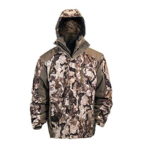 HOT SHOT Men's 3in1 Insulated Veil-Cervidae Camo Hunting Parka, Waterproof, Removable Hood, Year Round Versatility, Large