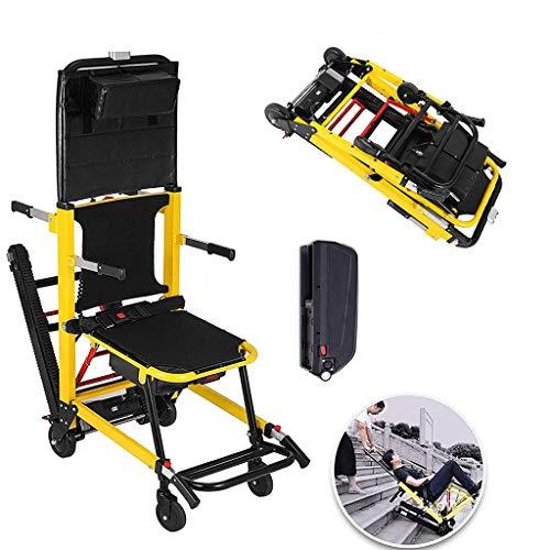 WUHX Silla de Ruedas elevadora eléctrica para Subir escaleras, Ligera, compacta, fácil, Silla motorizada Plegable, para Ancianos, discapacitados, Movilidad Reducida,Euplug