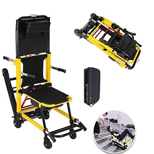 WUHX Elektro-Treppenlift-Rollstuhl, Leichter, kompakter, leicht Faltbarer, motorisierter Stuhl für ältere Menschen, Behinderte, eingeschränkter Mobilität,Euplug