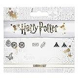 The Carat Shop Harry Potter Plataforma 9 3/4, Hedwig, Carta y Reliquias de la Muerte Stud Pendientes Conjunto