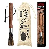 Coffee Grinder Cleaning Brush, Espresso Grinder Coffee Brush Wood Handle & Natural Bristles Pastry Brush, Coffee Accessories for Kitchen.