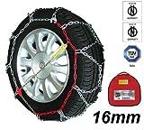 Melchioni 380008146 Catene da Neve Omologate Cf1646 16 mm 4 x 4 per Furgone SUV...