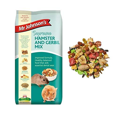 iXium Mr Johnsons Supreme Hamster and Gerbil Mix Muesli Mealworm Fibre Food...