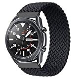 EMIOBAND Correa Solo Loop Trenzada 22mm Compatible con Galaxy 46mm/Gear S3 Frontier, Classic/Galaxy Watch 3 Bands 45mm Correa Deportiva 22mm