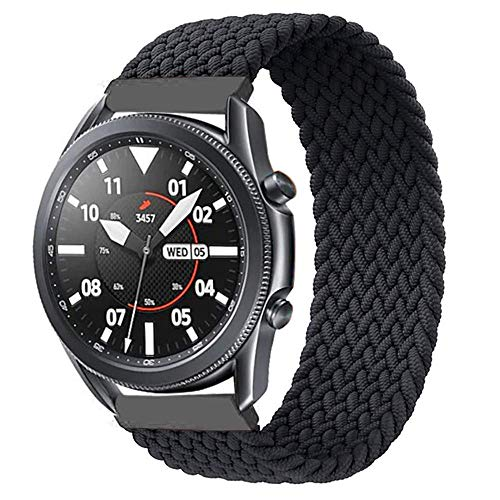 Braided Solo Loop Band Compatible For Galaxy Watch Active 40mm R500/Active 2 40mm 44mm/Galaxy Watch 42mm Elastic Sport Strap Bracelet For Samsung Gear S2 Classic Stretchy Watch Band 20mm
