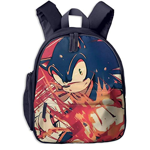 XCNGG Waterproof Big Kid Backpack, Classic Sonic Adventure Video Games Cartoon Characters Hedgehogs Student Book Bags for Boys Teen Back to School, Stylish Handbags for Travel Hiking