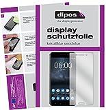 dipos I 2X Schutzfolie klar kompatibel mit Nokia 6 Folie Bildschirmschutzfolie