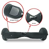 Coque Hoverboard 6.5' Silicone Scooter Housse Silicone Hoverboard Étui Souple Balance Board - Noir
