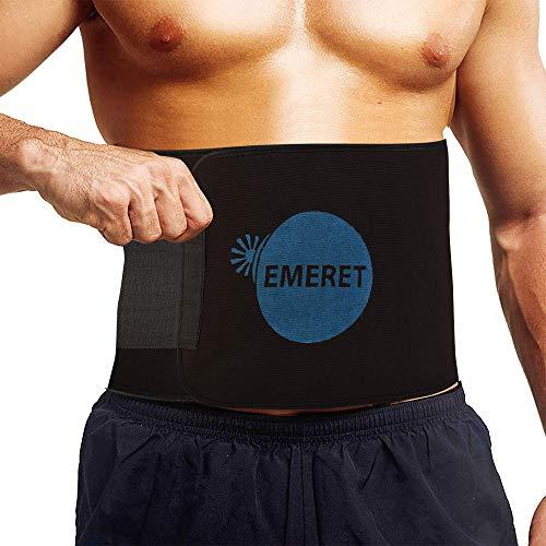 Emeret Sweat Slim Belt for Fat Burning | Slimming Belt | Tummy Trimmer Exerciser | Waist Trainer for Men and Women