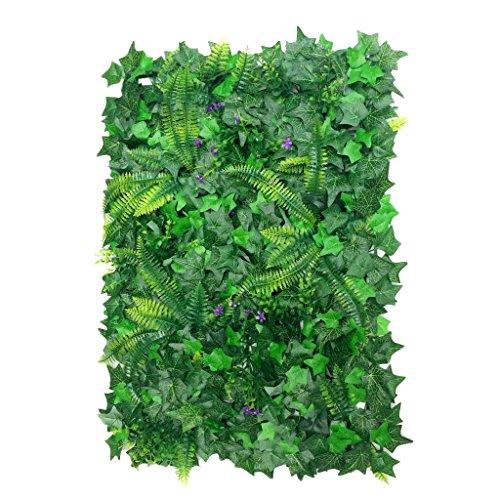 40 * 60cm Césped de Plantas Flor Hierba Hoja Enredaderas Artificiales Pared Decoración
